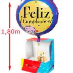Globo Feliz CumpleañosAbre la caja y descubre un globo de helio de 55cm felicitándote el cumple.