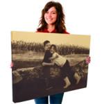 Lienzo foto antiguaRevive grandes momentos gracias a nuestro lienzo con efecto de foto antigua.