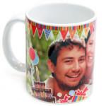 Taza de cumpleañosPersonaliza una taza con la foto del cumpleañero y sorpréndele por muy poco dinero.